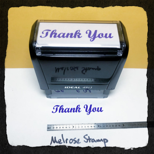 Thank Your Stamp Purple Ink Large