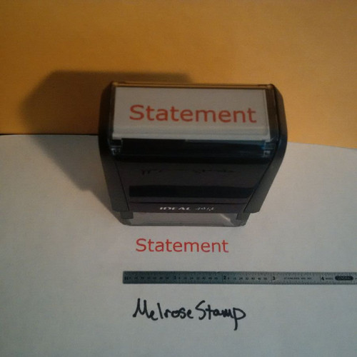 STATEMENT Rubber Stamp for office use self-inking