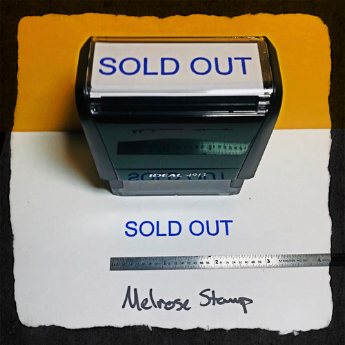 Sold Out Stamp Blue Ink Large