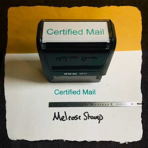 Certified Mail Stamp Green Ink Large