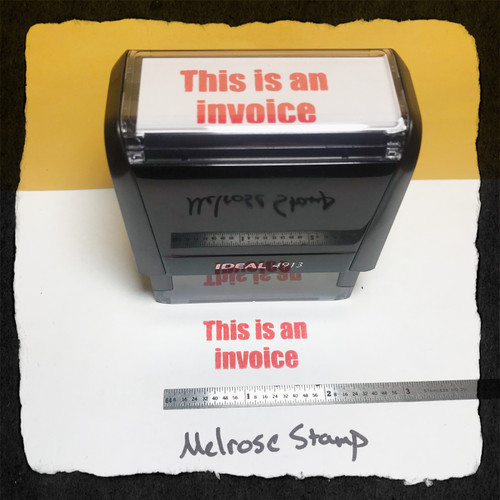 This Is An Invoice Stamp Red Ink large