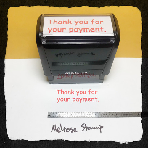 Thank Your For Your Payment Stamp Red Ink Large