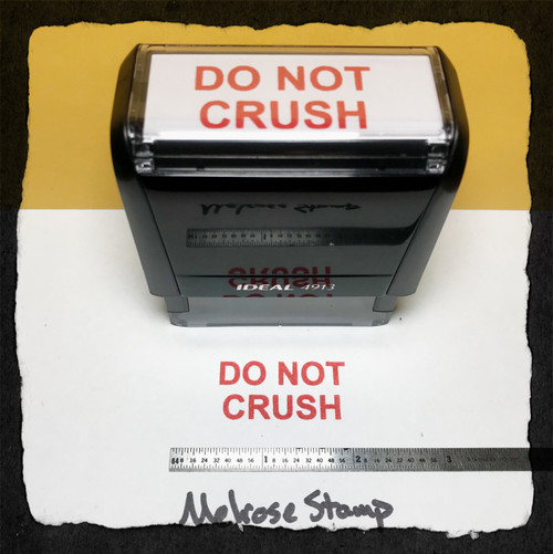 Do Not Crush Stamp Red Ink Large