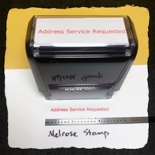 Address Service Requested Stamp Red Ink Large