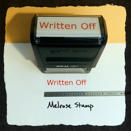 Written Off Stamp Red Ink Large 2