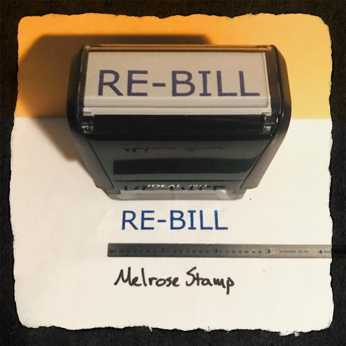 REBILL Rubber Stamp for office use self-inking