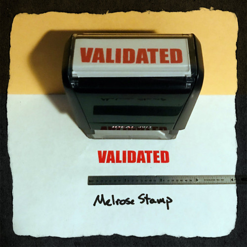 Validated Stamp Red Ink Large 2