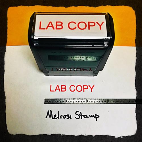 Lab Copy Stamp Red Ink Large