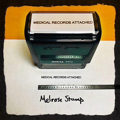 Medical Records Attached Stamp Black Ink