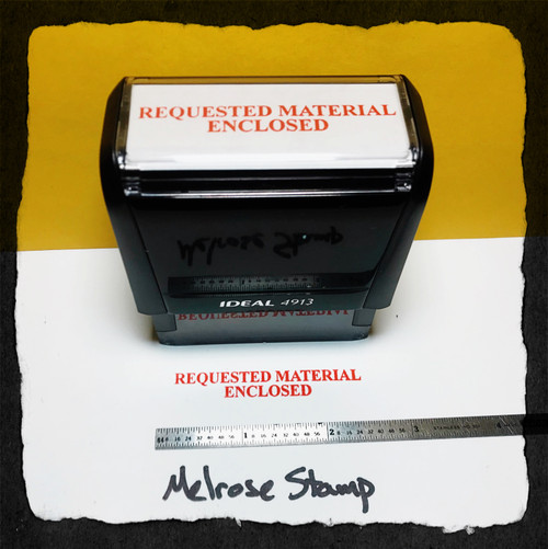 Requested Material Enclosed Stamp Large Red Ink