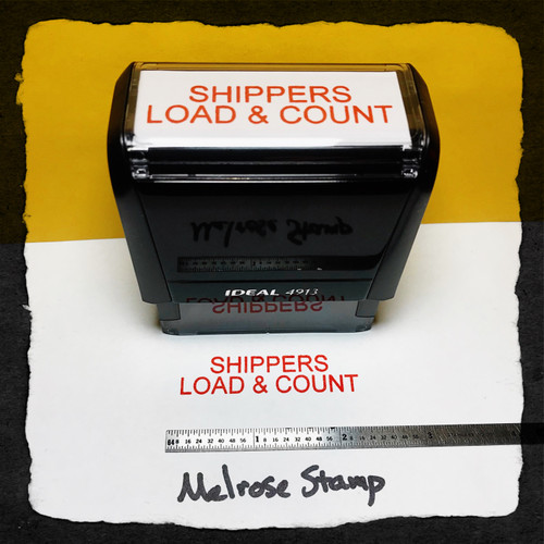 Shippers Load And Count Stamp Red Ink Large