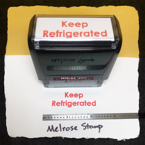 Keep Refrigerated Stamp Red Ink Large