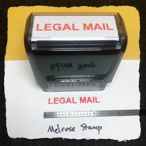 Legal Mail Stamp Red Ink Large