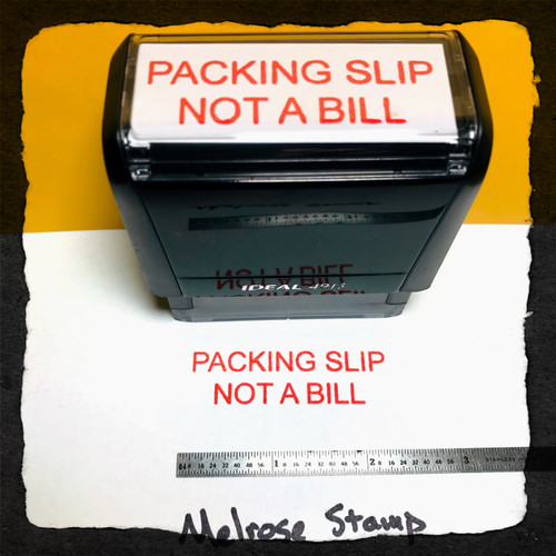 Packing Slip Not A Bill Stamp Red Ink Large