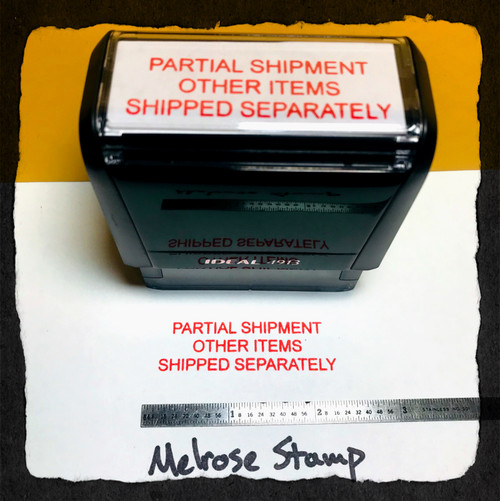 Partial Shipment Other Items Shipped Separately Stamp Red Ink Large