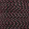 Black with Neon Pink X - 550 Paracord - 100 Feet