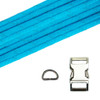 Dog Collar Kit - Reflective Neon Turquoise