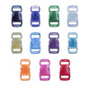 3/8 Inch Side Release Contoured Buckles -  Clear Colors
