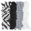 "1/4"" Twisted Cotton Rope Kit - Grayscale - 40'"