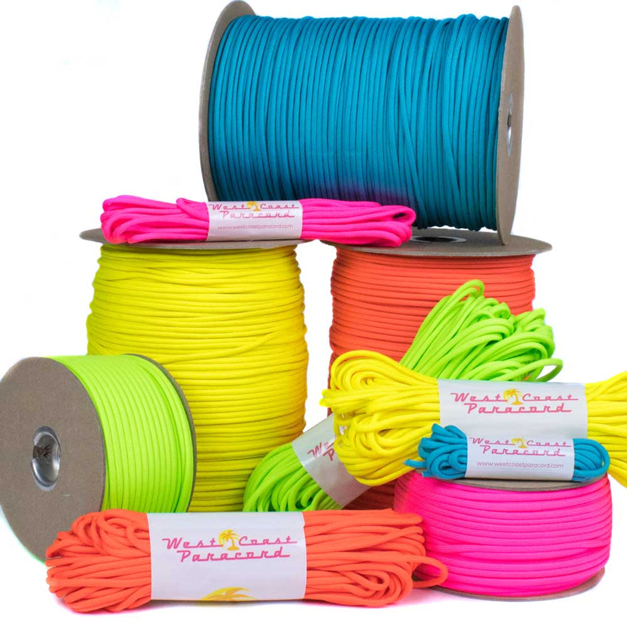 25 100 ft 50 550 Paracord 7 Strand 4mm Type III Survival Cord Rope Colour 15