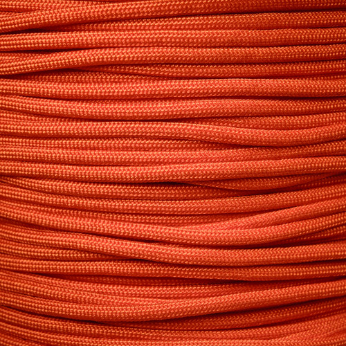 International Orange 550 Type III MIL-C-5040 Paracord