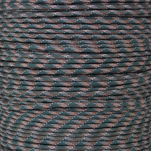 Woodland Camo - 550 Paracord with Reflective Tracers