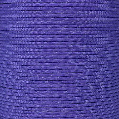 Purple - 550 Paracord with Reflective Tracers