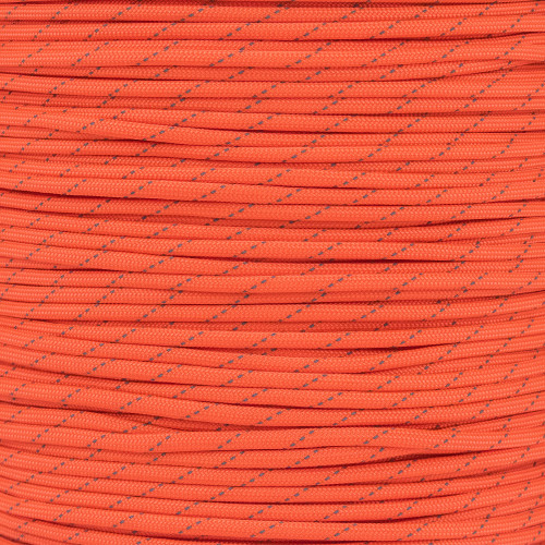 Neon Orange - 550 Paracord with Reflective Tracers