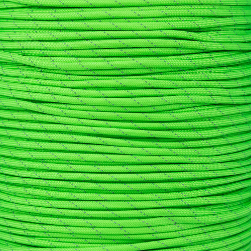 Neon Green - 550 Paracord with Reflective Tracers