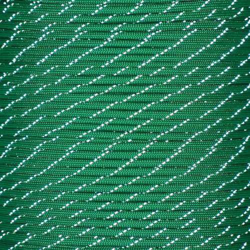 Kelly Green - 550 Paracord with Reflective Tracers