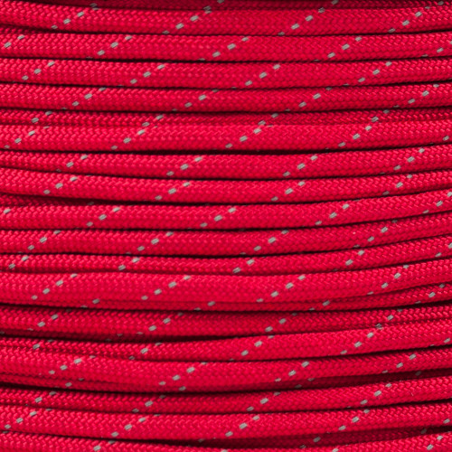 Imperial Red - 550 Paracord with Reflective Tracers