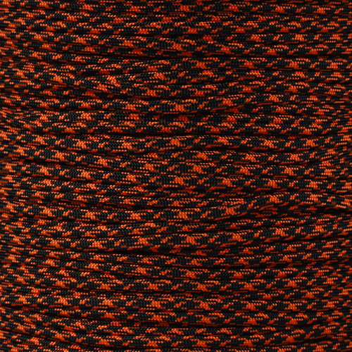 Neon Orange & Black Camo - 550 Paracord