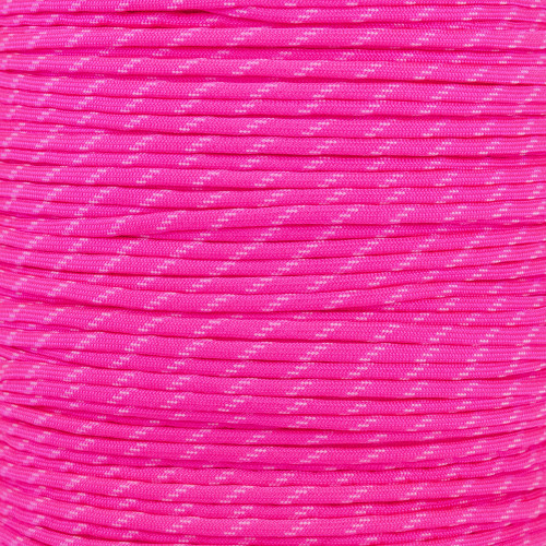 Neon Pink - 550 Paracord with Glow in the Dark Tracers