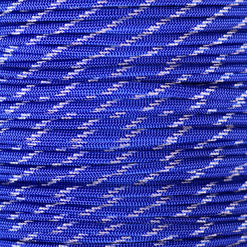 Electric Blue - 550 Paracord with Glow in the Dark Tracers