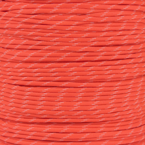 Neon Orange - 550 Paracord with Glow in the Dark Tracers