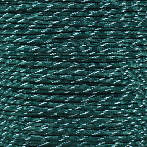 Dark Green - 550 Paracord with Glow in the Dark Tracers