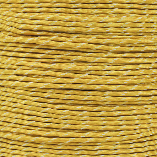 Yellow - 550 Paracord with Glow in the Dark Tracers