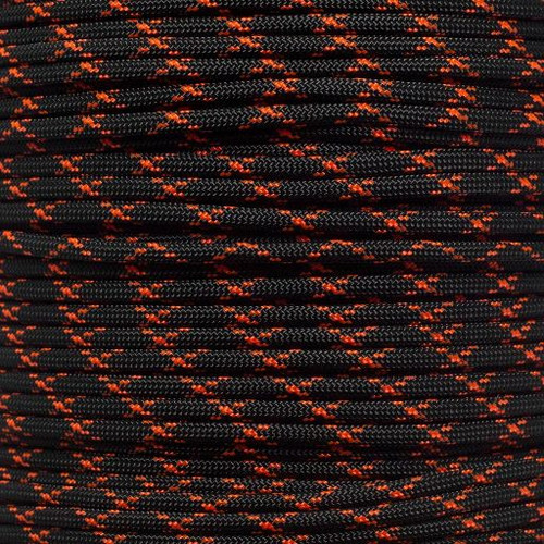 Black with Neon Orange - 550 Paracord
