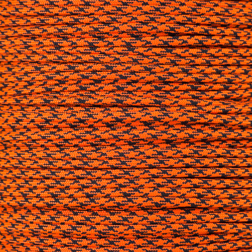 Neon Orange Camo - 550 Paracord - 100 Feet