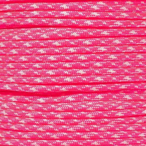 Neon Pink Zebra - 550 Paracord - 100 Feet