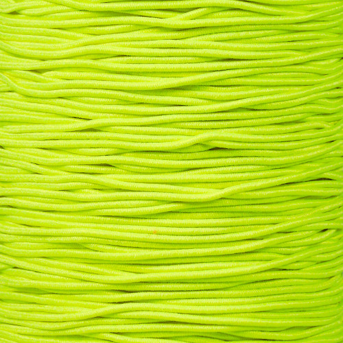 Neon Yellow - 1/16 Elastic Cord