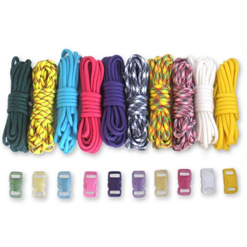 Neon Bracelet - Combo Kit (Paracord & Buckles)