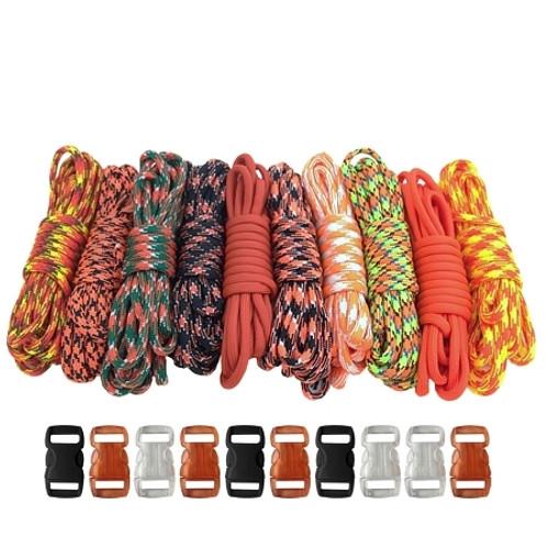 Orange - Combo Kit (Paracord & Buckles)