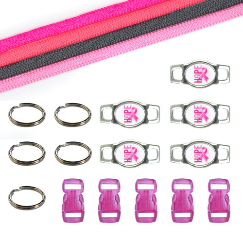 Breast Cancer Awareness Paracord Crafting Kit #9