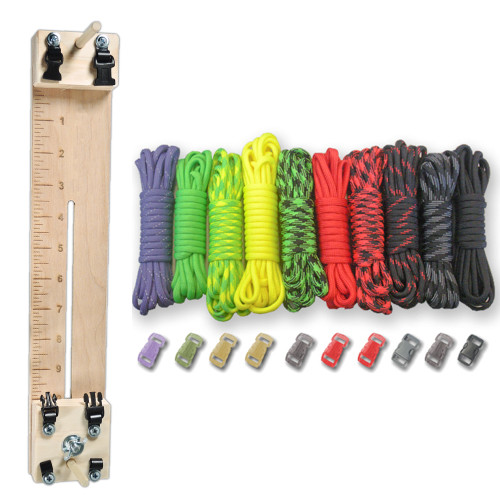 "Paracord Combo Crafting Kit with a 10"" Pocket Pro Jig - Zombie"