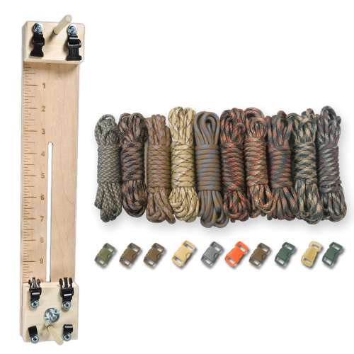 """Paracord Combo Crafting Kit with a 10"""" Pocket Pro Jig - Camo Man"""