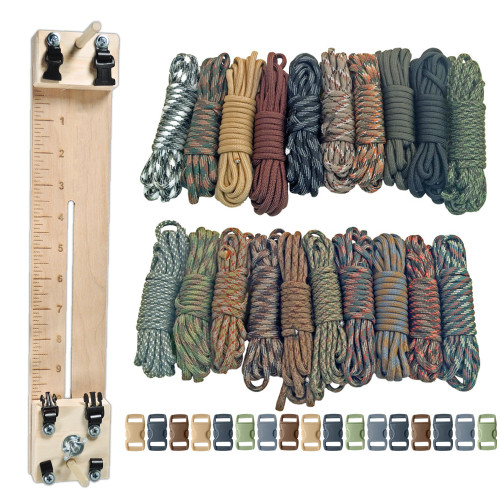 "Paracord Combo Crafting Kit with a 10"" Pocket Pro Jig - Scouting"