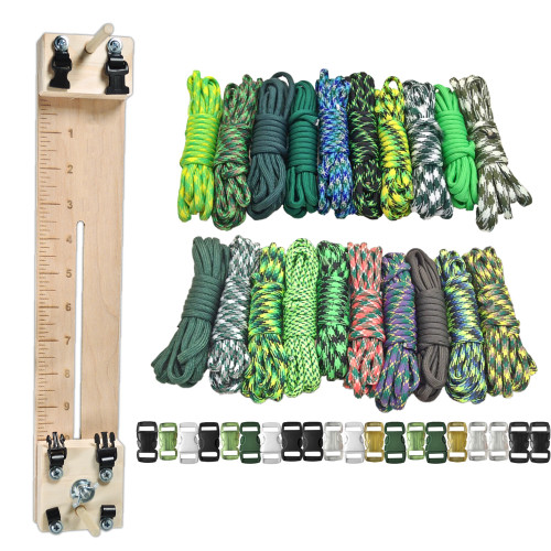 "Paracord Combo Craft Kit with a 10"" Pocket Pro Jig Green Giant"