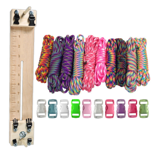 "Paracord Combo Crafting Kit with a 10"" Pocket Pro Jig - Tie Dye"