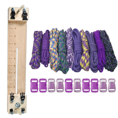 "Paracord Combo Crafting Kit with a 10"" Pocket Pro Jig - Purple"